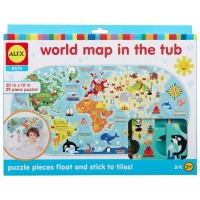 World Map in the Tub 30 pc Foam Puzzle