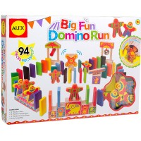 Big Fun Domino Run 94 pc Circus Dominoes Race Set