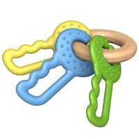 Clutching Green Keys Baby Teething Toy