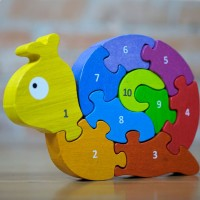 Number Snail Rubberwood Learn & Play Puzzle