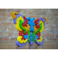 Butterfly A to Z  Learn & Play Rubberwood Puzzle