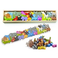 Animal Parade A to Z Wooden Animal Alphabet Puzzle Playset