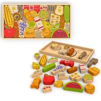 Alphabites A to Z Wooden Puzzle & Food Play Set