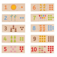 Number Tiles 30 pc Matching Puzzles Set