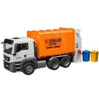 Bruder MAN TGS Rear Loading Garbage Truck - Orange