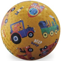 Vehicle Sounds Yellow 7 inch Play Ball for Kids