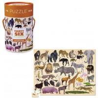 36 Wild Animals 100 pc Jigsaw Puzzle in a Gift Canister