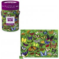 36 Butterflies 100 pc Jigsaw Puzzle in a Gift Canister
