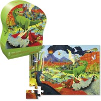 Land of Dinosaurs 36 pc Puzzle in Shaped Gift Box