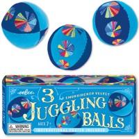 Juggling Balls 3 pc Velvet Set - Blue