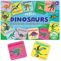 Dinosaurs Memory Matching Travel Game for Kids