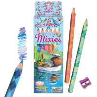 Blended Color 6 Jumbo Pencils Tri Color Mixies Set