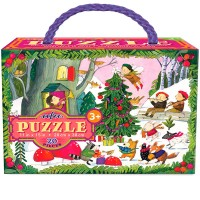 Christmas in the Woods 20 pc Glitter Puzzle