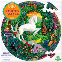Unicorn Garden 500 pc Round Puzzle