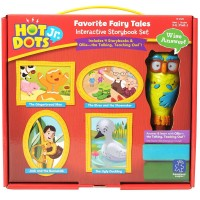 Hot Dots Jr. Favorite Fairy Tales 4 Storybooks with Owl Pen Interactive Set