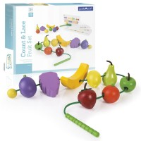 Count and Lace Fruit Preschool Learning Toy