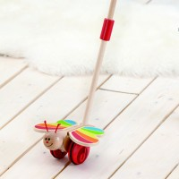 Butterfly Wooden Push Toy