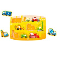 Construction Vehicles 9 pc Peg Puzzle