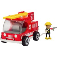 Fire Truck Kids Wooden Play Set