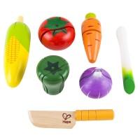 Garden Vegetables 7 pc Wooden Set