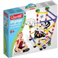 Quercetti Migoga Marble Run 100 pc Double Spiral Building Set