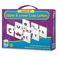 Upper & Lower Case Letters Match It! Learning Puzzle