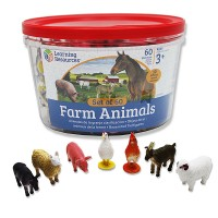 Farm Animals Counters 60 pc Counting Set