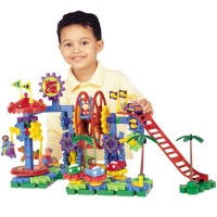 Dizzy Fun Land Motorized Gears Building Toy