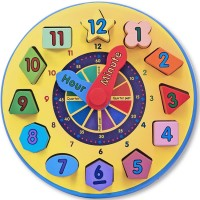 Shape Sorting Clock Wooden Toy