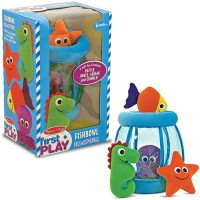 Fishbowl Fill and Spill Sea Animals Soft Baby Toy Set