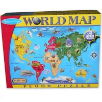 World Map 33 pc Floor Puzzle