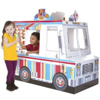 Food Truck Ice Cream & BBQ Grill Indoor Playhouse