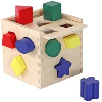 Shape Sorting Cube Wooden Toy