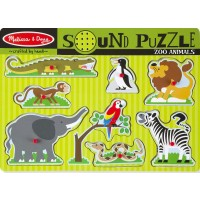 Zoo Animals 8pc Wooden Sound Puzzle