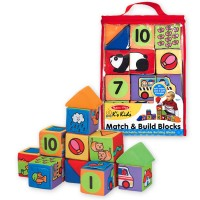 Match & Build 14 Soft Blocks Toddler Learning Set