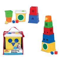 Owl Stacking Bucket Shape Sorter
