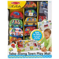 Take along Town Play Mat with 9 Soft Vehicles Set