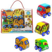 Pull Back Construction Vehicles 4 pc Play Set