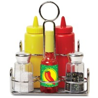 Play Kitchen 6 pc Toy Condiment Set