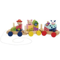 Stack & Pull Train Wooden Blocks Set