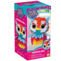 PlushCraft Colorful Owl 3D Fabric Craft Kit