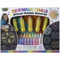 Sidewalk Chalk Ultimate Mandala Stencil Set