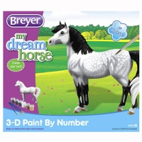 3D Paint by Number Dapple Grey Horse Model Kit