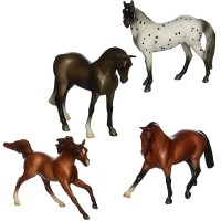 Super Sporty 4 Stablemates Horse Figurines Set