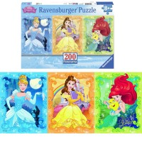 Beautiful Disney Princesses 200 pc Panorama Puzzle