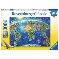 World Landmarks Map 300 pc Puzzle