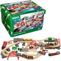 Brio Deluxe Railway 87 pc Wooden Train Set