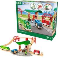 Brio Travel Station 25 pc Wooden Train Set