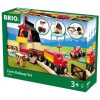 Brio Farm Railway 20 pc Wooden Train Set