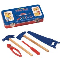 Tin Tool Box with Tools for Kids